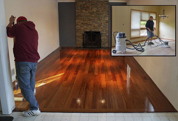 Hardwood flooring restoration